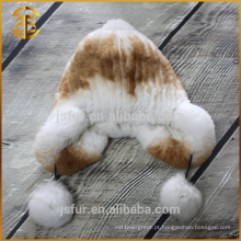 Mais recente Styish Custom Boonie Handmade Crochet Cute Rabbit Fur Hat