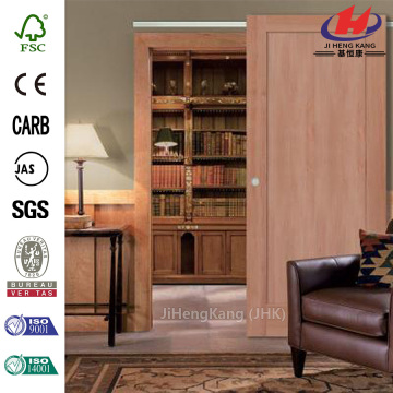 JHK-001 Indian Design Solid Wooden Cheap Interior Press Board Sliding Doors
