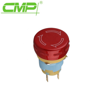 Red Head 16mm Emergency Stop Push Button Switch