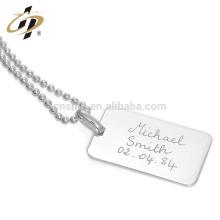 Collar de plata al por mayor etiquetas de perro collar regalos para novia o novio