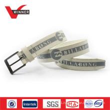 2015 Printed PU men jean belt sports belt