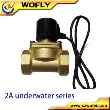 China Fabrik produzieren 2 Wege 1/4 '' ~ 2 '' Messing / ss304 / ss316 Unterwasser-Magnetventil AC 220V / DC 24V