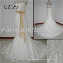 2011 mais recente gota elegante transporte frete estilo meimaid livre frisado sweethart brilhante vestido de casamento de sereia frisada 2011 JJ2429