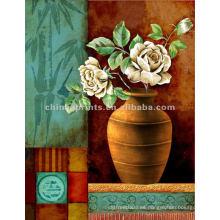 Vaso de flores Naturaleza muerta Pintura al óleo clásica
