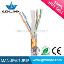 305m 4pr 23/24/26 AWG FTP / UTP / SFTP Cat6 cable de red exterior / interior Lan