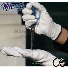 NMSAFETY anticut pu guantes de resistencia al corte nivel 3 en venta