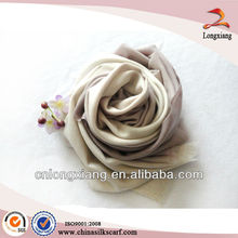 Bufanda de cachemira de color sólido
