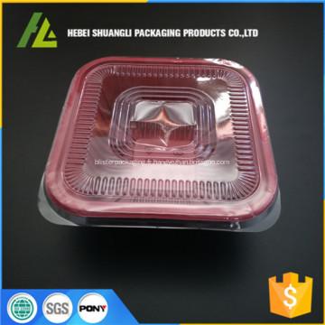 boîte à lunch en plastique jetable d'emballage alimentaire