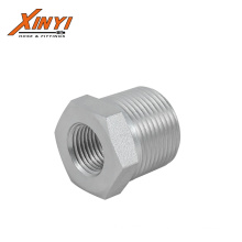 4T Hot sale high quality durable galvanized double joint carbon steel forged adapter hose fittings