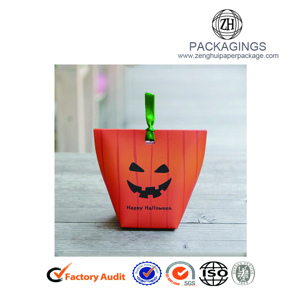 Halloween+paper+gift+box+with+pumpkin+logo