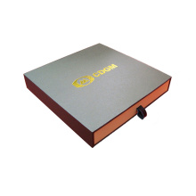 Sliding Rigid Gift Box with Ribbon Puller