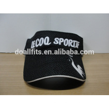 High quality Sport sun visor caps cotton mesh 3D embroidery sun visor hat