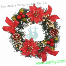 Hot selling fiber optic christmas wreath