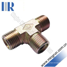 Metric Male O-Ring Tee Adapter Hydraulic Nipple (AE)