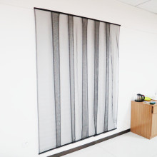 Polyester fabric door curtain with vec