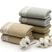 100% coton Home & Garden Absorbant Serviette de bain en stock Ht-091 China Factory