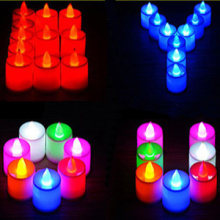 Flickering flameless LED tealight candles for wedding