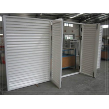 Custom White Powder Coat Swinging Aluminium Louvre Doors