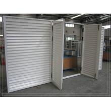Custom White Powder Coat Swinging Aluminium Louvre Doors