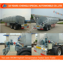 Zwei-Achsen 30cbm Asphalt Transport Tanker Auflieger