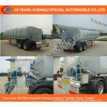 Two-Axles 30cbm Asphalt Transportation Tanker Semi-Trailer