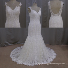 Bead Wedding Dress Mermaid Sweetheart Backless Wedding Dress