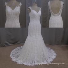 Bead Wedding Dress Mermaid Sweetheart Backless Wedding Dress