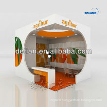 Wood design u shape exhibit stands for trade show contractor exhibtion booth display