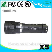 Lumière de sauvegarde de 1000 Lumen puissante LED Torche de plongée X5