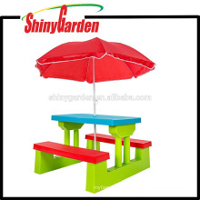 Walmart Outdoor KD Children Child mesa de plástico y escritorio de la silla para el aprendizaje de los niños