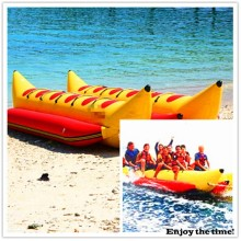 Red and Yellow 6 Person Inflatable Banana Boat, Versatile Function with CE China