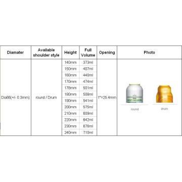 Spray Aerosol Cans (BN-Aerosol can-Dia66mm)