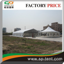Big curved shaped white wedding tent for outdoor 1000 people seated 25x60m tent