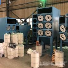 Colector de polvo industrial de cartuchos horizontales para corte por láser