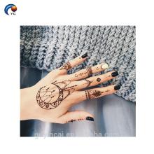 Etiqueta do tatuagem do corpo do estilo de Henna Dubai, etiqueta provisória da pele do intim com preço competitivo