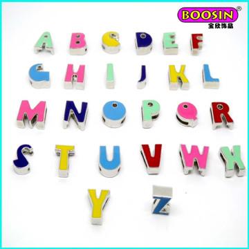 Wholsale High Quality Alloy Enamel Slider Letter a-Z Charms #11942