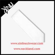 Cravate blanche en soie faite main de haute qualité pour homme