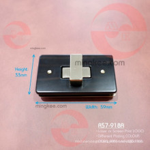 Spray Paint Painting Wooden Style Rectangle Twist Turning Lock