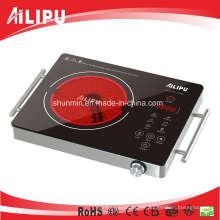 Plaque chaude électrique d'appareil de cuisson portatif de CB / CE avec le corps en métal