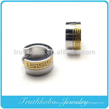 TKB-E0007 Brinco de Argola para Homem Brinco de aço inoxidável banhado a ouro 7mm
