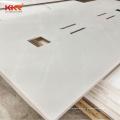 Préfabri coupe-à-taille 42 x 19 comptoir commercial moderne salle de bain toilette moulé hôtel résine acrylique quartz marbre vanité haut