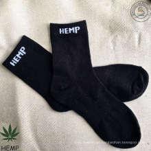 Super respirable cómodo y duradero calcetines de algodón de cáñamo (HS-1603)