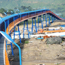 Antipollution Long-Distance Belt Conveyor with Curves