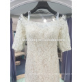 2017 new fish tail wedding dress was thin 3/4 sleeve lace bead sequins high-end luxury trailing wedding dress LJ-20031