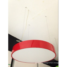 LED Pendant Light with Red Shade for Home