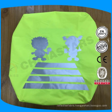 high visibility waterproof reflective backpack cover with reflective logo