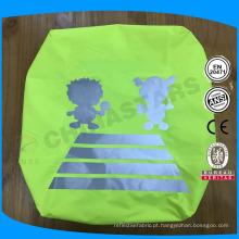 Tampa de mochila reflexiva impermeável de alta visibilidade com logotipo reflexivo