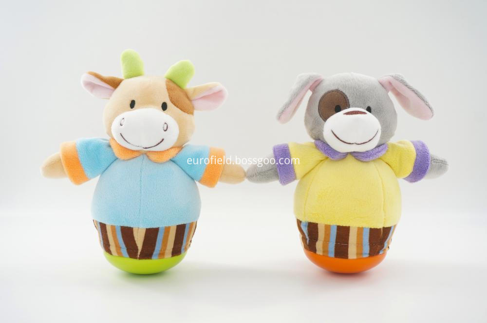 Hot Sale Plush Toy Tumbler Dog and Cow