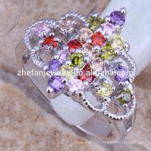 fontes de jóias traje zircônia cúbica prata esterlina anel longo dedo