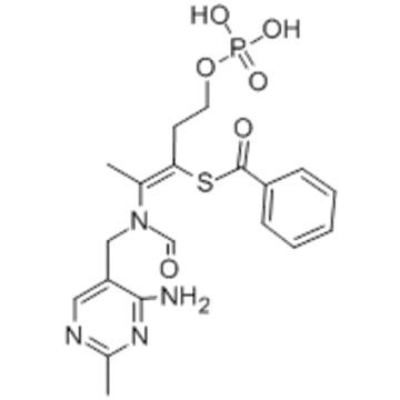 Benzenecarbothioicacid,S-[2-[[(4-amino-2-methyl-5-pyrimidinyl)methyl]formylamino]-1-[2-(phosphonooxy)ethyl]-1-propen-1-yl]ester CAS 22457-89-2